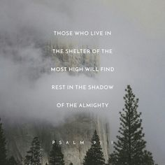 """""""He that dwelleth in the secret place of the most High shall abide under the shadow of the Almighty"""" ♥️ Psalms 91:1"""