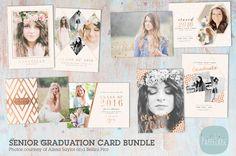 AG017 Senior Graduation Card Bundle by Paper Lark  on @creativemarket