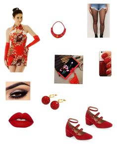 """Chinese night out"" by kcjara on Polyvore featuring Chinese Laundry, Lime Crime and Deanna Hamro"
