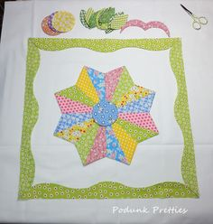 Podunk Pretties: That inner voice Dresden Plate Quilts, Cute Quilts, Plate Design, Buy Fabric, Old Paper, Quilting Designs, Wall Design, Quilt Blocks, Quilt Patterns