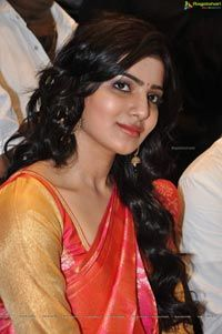 Beautiful Samantha in Pattu Saree - High Resolution Posters