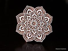Indian Wood Block Stamp, Tjaps, Hand Carved stamp, Pottery stamp, Textile Stamp- Round Floral, Mandala