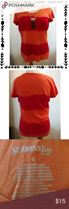 Bright Orange T-SHIRT Bright orange t-shirt. Worn a handful of times. Please feel free to make an offer. St. John's Bay Tops Tees - Short Sleeve