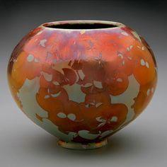 Tim Marcotte  Crystalline porcelain vessel