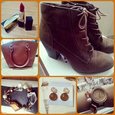 #me #today #my #accesory #i #love #gold #i #love #brown #combine  #stylsh #red #lipstick #pastel #hadidısarı :))