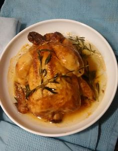 Pollo asado con ajedrea de montaña. Gourmet Bilbao.