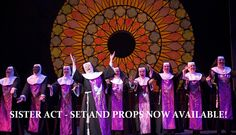 Sister Act the Musical set and props #sisteract #sisteractthemusical #tmtcompany