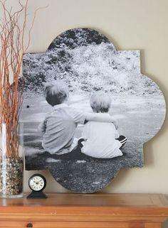 How to Make Quatrefoil Photo Wall Art