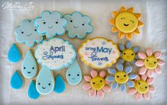 April Showers Bring May Flowers-Spring Cookies by Melissa Joy