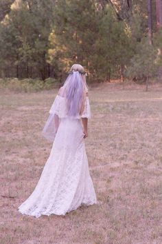 Bohemian Wedding Dress Off The Shoulder Lace by DaughtersOfSimone, $980.00