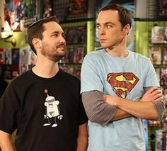 Joy in a picture. Will Wheaton & Jim Parsons (Sheldon).