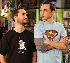 Joy in a picture. Will Wheaton & Jim Parsons (Sheldon).