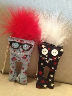 """Ugg Lee Dolls  say, """"Have a safe & fun Independence Day"""
