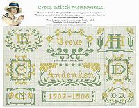 free cross stitch monograms
