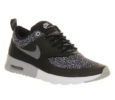 Nike Air Max Thea Black Wolf Grey White - Hers trainers - Size 5