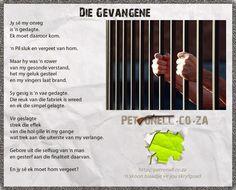 PETRONELL.CO.ZA » Die Gevangene Poetry, Poetry Books, Poem, Poems