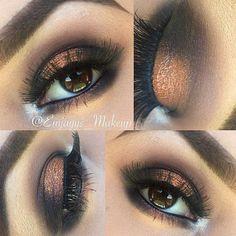 lovely copper eye shade style