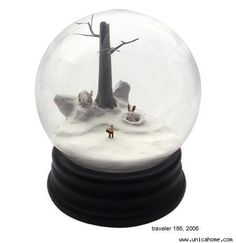 creepy snowglobes | love snow globes but although these are really interesting i can t ...