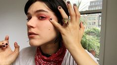 Watch French It Girl Soko Deconstruct Her Signature Red Eyeshadow in One Easy Step