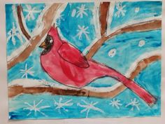 SJS Art Studio: Cardinals in Our Tree!