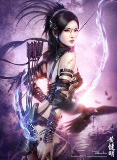 Pyramid Mario Wibisono Redemption Poster Print: Beautiful fine art poster that is sure to please any fantasy art fan. This stunning poster of a fantasy archer by artist Mario Wibisono is sure be a hit with any fan of the fantasy art style. Fantasy Warrior, Fantasy Girl, Chica Fantasy, 3d Fantasy, Warrior Girl, Fantasy Kunst, Warrior Princess, Fantasy Women, Dark Fantasy