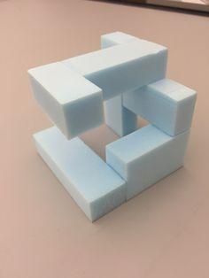 """3""""x3""""x3"""" foam core cube 1 (1.2a)"""