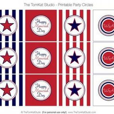 Memorial Day Party Circles {free printable}