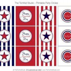 Memorial Day Party Circles {free printable}