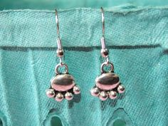 Animal paw print earrings dangle charm jewelry cute cats dogs metal gift for crazy cat lady dog lover adorable pierced ears silver ear hook on Etsy, $8.00