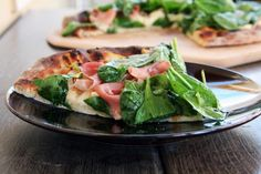 Goat Cheese, Prosciutto, and Pear Pizza