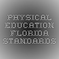 Physical Education- Florida Standards