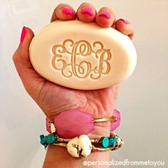 Monogrammed Soap b/c you monogram everything else in your life! Omg this would soooo be me. Monogram Gifts, Monogram Jewelry, Southern Charm, Gifts For Girls, Cute Gifts, Everything, Wedding Gifts, Initials, Christmas Gifts