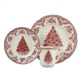Old Britain Castles Pink Christmas Dinnerware Set