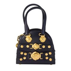 c030a8a01f Gianni Versace Mini Bag with Medusa Motifs Gold Handbags