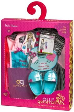 Our Generation Style Maker Dressmaker Outfit For Dolls American Girl Doll Room, American Girl Crafts, American Girl Clothes, American Girl Food, American Girl Furniture, American Dolls, Og Dolls, Girl Dolls, Cosas American Girl