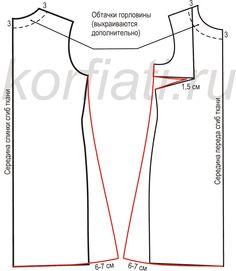 Выкройка платья трапеция детали кроя