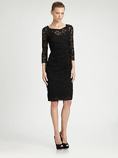 Dolce & Gabbana Mixed Media Lace Dress
