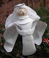 Crack of Dawn Crafts: Recycled Milk Jug Angel Craft Christmas Angel Crafts, Christmas Projects, Christmas Crafts, Christmas Decorations, Lawn Decorations, Christmas Trees, Recycled Decor, Upcycled Crafts, Diy Crafts