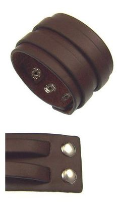 "Kala-isjewels- Men's - Brown Leather Bracelet - Length 8,66"". width 1,57"". Adjustable in 3 points : 6,69"", 7,48"", 8,07"" kala-isjewels. $14.50"