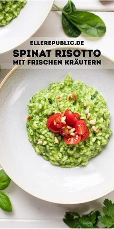 Spinach Risotto with Fresh Herbs Recipe Elle Republic - The Spinach Risot . - Spinach Risotto with Fresh Herbs Recipe Elle Republic – The spinach risotto with fresh herbs is j - Herb Recipes, Pasta Recipes, Crockpot Recipes, Dinner Recipes, Italian Recipes, Potato Recipes, Sweet Recipes, Baking Recipes, Salad Recipes