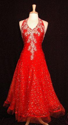 nice flow, slender swirl.....Korean Silk Ballroom Dress