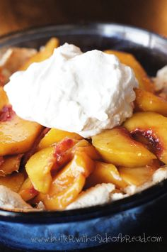 EASIEST PEACH PIE