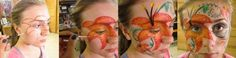 Learn how to face paint tropical flowers in this Flower Face Painting DIY Petal Talk blog post!