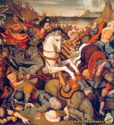 Santiago en la batalla de Clavijo - Obra - ARTEHISTORIA V2