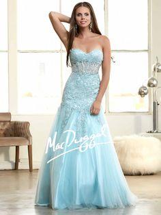 Blue Ball Gown | Lace Prom Dress | Mac Duggal 61986H