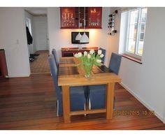 Spisebord m/stole, Eg., b: 90 l: 180, Solidt spisebord i