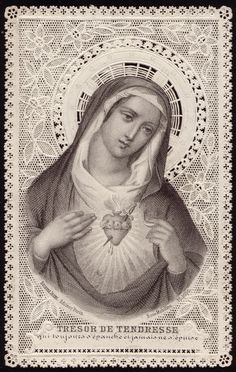 """sacred heart of Mary """" treasure of tenderness, which always responds and never despises....."""""""