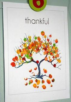 sunshine: Fingerprint autumn craft