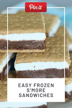 Easy Frozen S'More Sandwiches Grill Sandwich, Croissant Sandwich, Gourmet Sandwiches, Reuben Sandwich, Party Sandwiches, Salami Sandwich, Hummus Sandwich, Bagels Sandwich, Mozzarella Sandwich