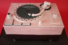 40th Birthday Cake NJ - DJ Turntable Custom Cakes
